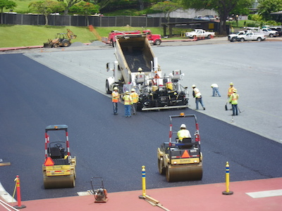 athletic field asphalt paving