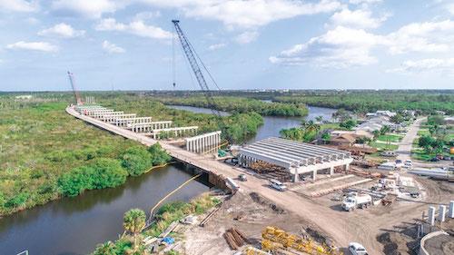 Crosstown Bridge traverses a highly environmentally sensitive area