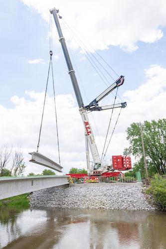 All Crane Indiana bridge work