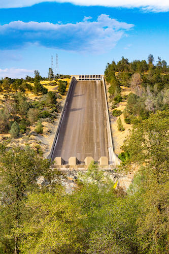 California repaired dam and spillway