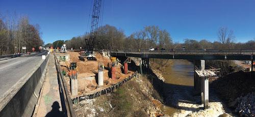 I-85 Mulberry River Caissons