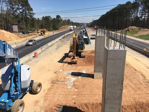 I-85 Spout Springs Bridge columns