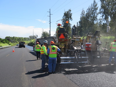 Open-Graded Friction Course asphalt paving
