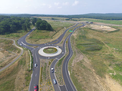 The Virginia DOT determined a diverging diamond interchange was the preferred design solution