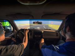 Road driving simulator testing Missouri S&T; MoDOT