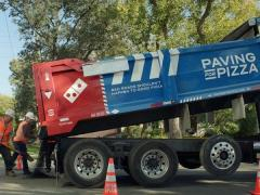 Domino's pavement repairs