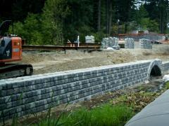 Redi-Rock gravity retaining walls