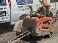 Husqvarna FS 7000 is used to cut the old lanes
