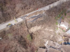 Crews continue to remove debris after Rte. 30 collapse in East Pittsburgh