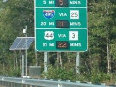 MassDOT launches real-time traffic displays in Route 24 corridor