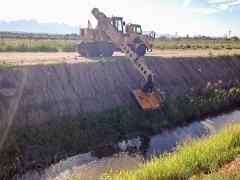 Gradall excavator in New Mexico