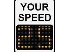 The 9-Inch Matrix Display Radar Driver Feedback Sign from TraffiCalm Systems