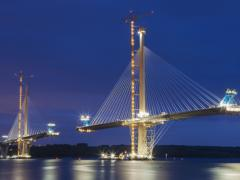 Forth Bridge Queensferry Crossing under construction