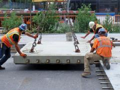 Newly developed precast concrete paving system opens opportunities for work on congested roadways
