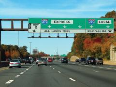 connected and automated vehicles on I-270 in Maryland
