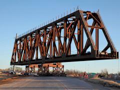 Oklahoma City I-235 BNSF rail bridge