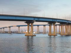 Reinforced concrete structures, such as bridges, can be exposed to aggressive chloride environments and often show evidence of corrosion after short service periods