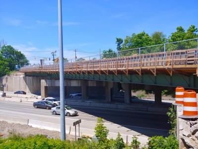 I-95 Exit 9 Stamford accelerated bridge construction Connecticut