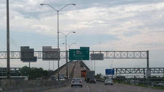 I-10 over Lake Charles