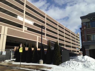 Parking garage at MGM Springfield