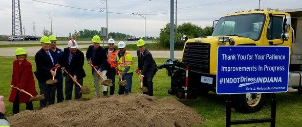 Indiana Gov. Eric Holcomb joined State Representative Ed Soliday, Indiana Department of Transportation (INDOT) Commissioner Joe McGuinness and other local officials on Friday to formally break ground on the I-65 Northwest Indiana Expansion Project.