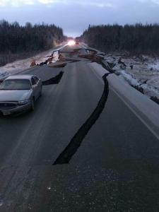 Alaska hit with sizable earthquake; DOT making assessments