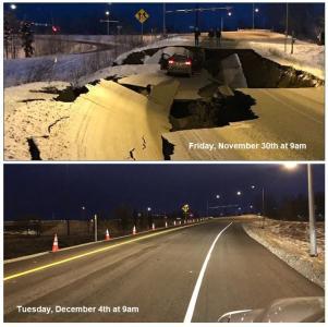 Anchorage earthquake repairs