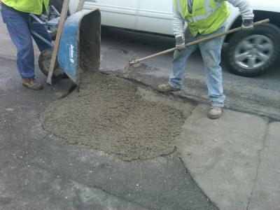 The program enables the department to track pothole locations and size, number of potholes filled, type of material used and cost of repairs