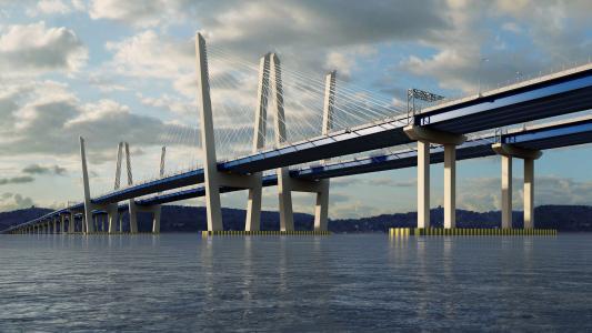 A rendering of the New NY Bridge