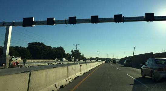 Traffic management digital messages displayed on I-90