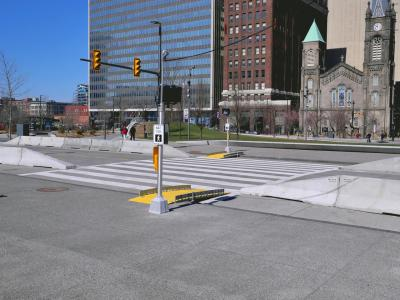 BoardWalk ramps were installed on both sides of Superior Avenue