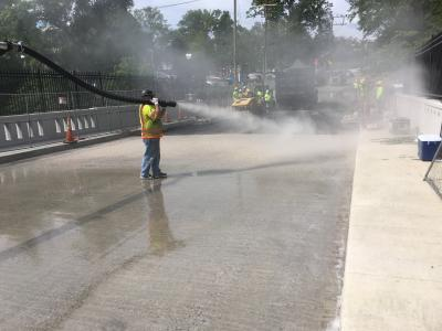 Planiseal Traffic Coat being applied to the S.R. 195 bridge in Maryland