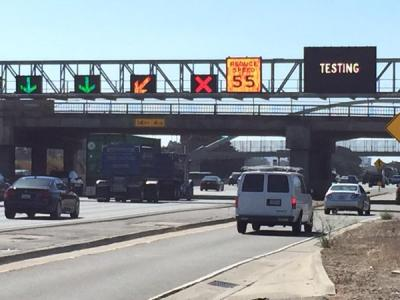 Caltrans tests I-80 smart signs designed to ease traffic