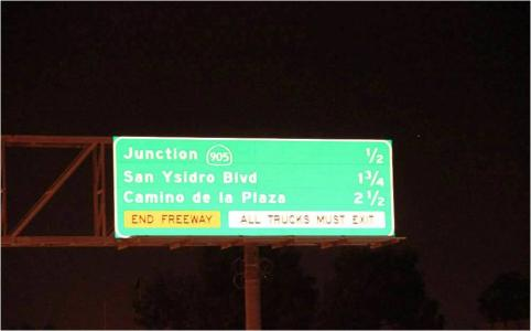 Caltrans tests reflective sheeting for guide-sign visibility and cost savings