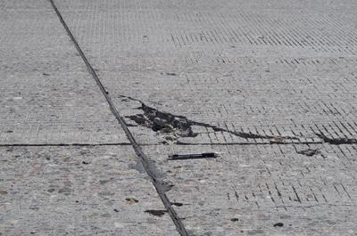UDOT uses gray mastic to repair interstate