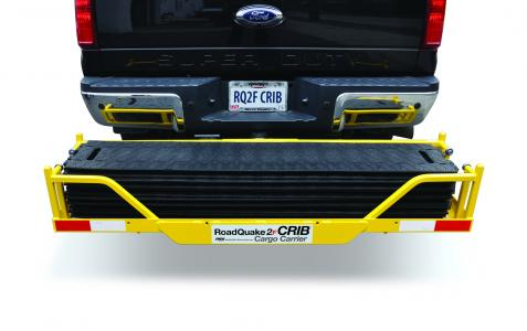 CRIB Cargo Carrier holds six RoadQuake TPRS, mounts easily to vehicles.