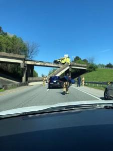 Chattanooga I-75 concrete railing collapse over I-24