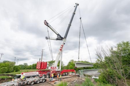 ALL Crane Little Calumet Bridge