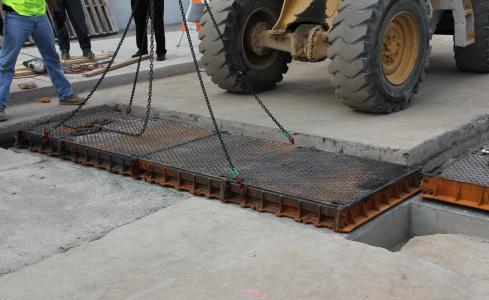 Asphalt manhole covers