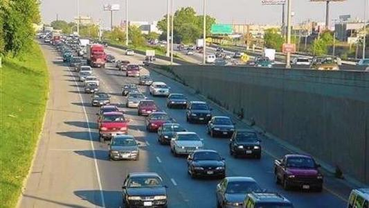 The I-290 Eisenhower Expressway between Mannheim Rd and Racine Ave