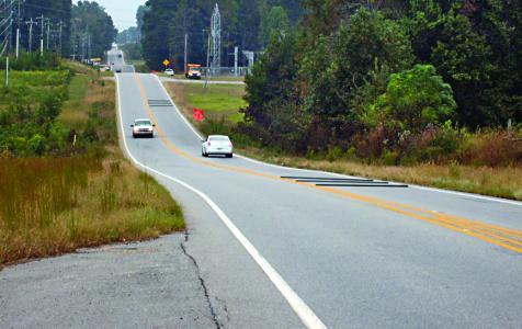 Two, three-strip RoadQuake 2F TPRS arrays on a rural two-lane