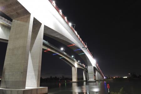 Brisbane's Gateway Bridge in Australia