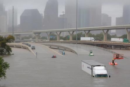 Hurricane Harvey aftermath in Houston