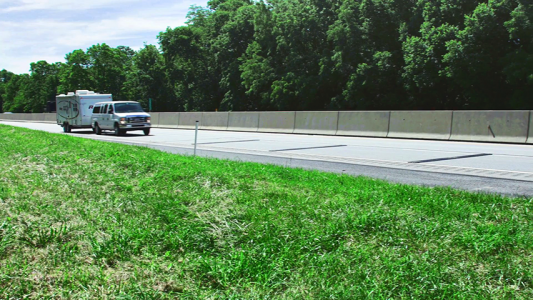 Demonstrating RoadQuake TPRS in a live work zone, central Pennsylvania