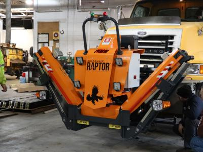 PennDOT added RAPTOR Rumble Strip Handling Machine to its fleet of equipment