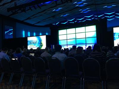 The first full day of the 2018 ITS America Annual Meeting in Detroit has come and gone, and with it some interesting stuff and also some undue frustration.