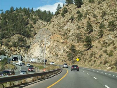 Interstate 70 through Colorado Mountains