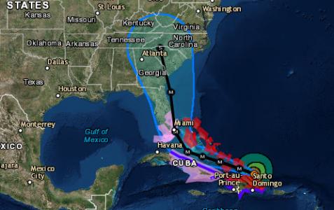 Hurricane Irma heading towards Florida