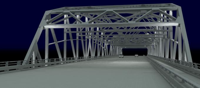 Kennedy Bridge near the North Dakota-Minnesota border
