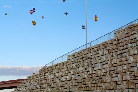 NMDOT built this retaining wall to help overcome right of way limitations